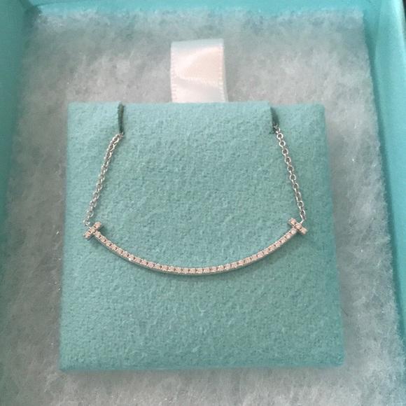 0e728ee16 Tiffany & Co. Jewelry | Tiffany T Diamond Smile Necklace | Poshmark